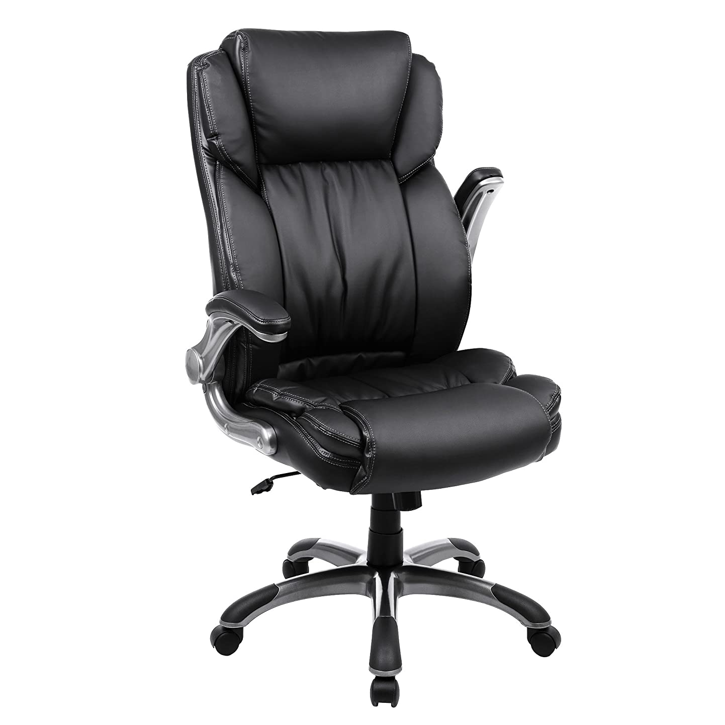 SONGMICS Extra Big Office Chair High Back Executive Chair with Thick Seat and Tilt Function Black UOBG94BK reiechxtmel4
