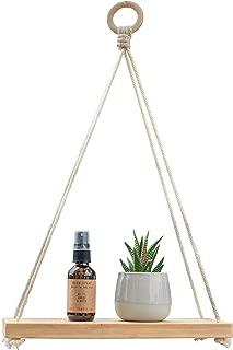 wooden rope shelf