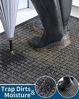 Outdoor Doormats, Slide-Proof Heavy Duty Rubber Welcome Mats for Front Door, Durable Utility Mud Scrapper Entryway Rug for...