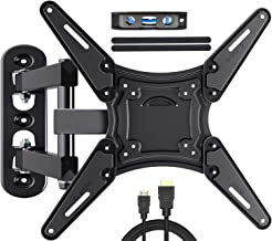 Fozimoa Full Motion TV Wall Mount for Most 26-55 Inch TVs with Swivels, Tilts & Extends, TV Bracket VESA 400x400 Fits LED,...