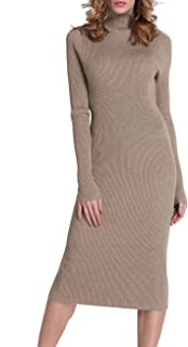 Rocorose Women's Turtleneck Ribbed Elbow Long Sleeve Knit...