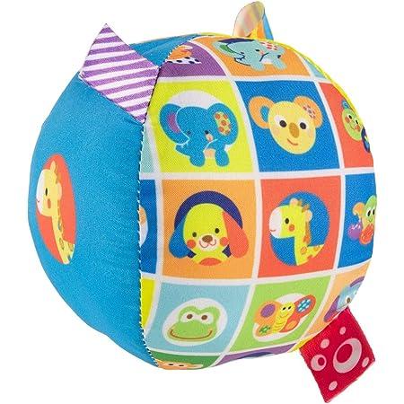 Chicco Palla in tessuto super morbido per stimolare il gattonamento, Multicolore, 9.5 x 9.5 x 9.5 cm, 3m+