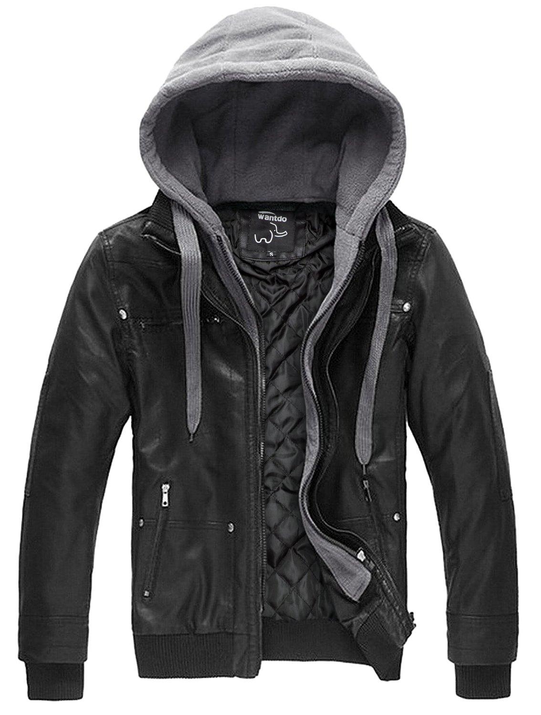 Wantdo Leather Jacket Removable Large