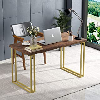 Tribesigns Rustic Computer Desk, 55 inch Vintage PC Computer Workstation Writing Desk with Spacious Work Area & Easy Assemble Table Leg for Home Office Use