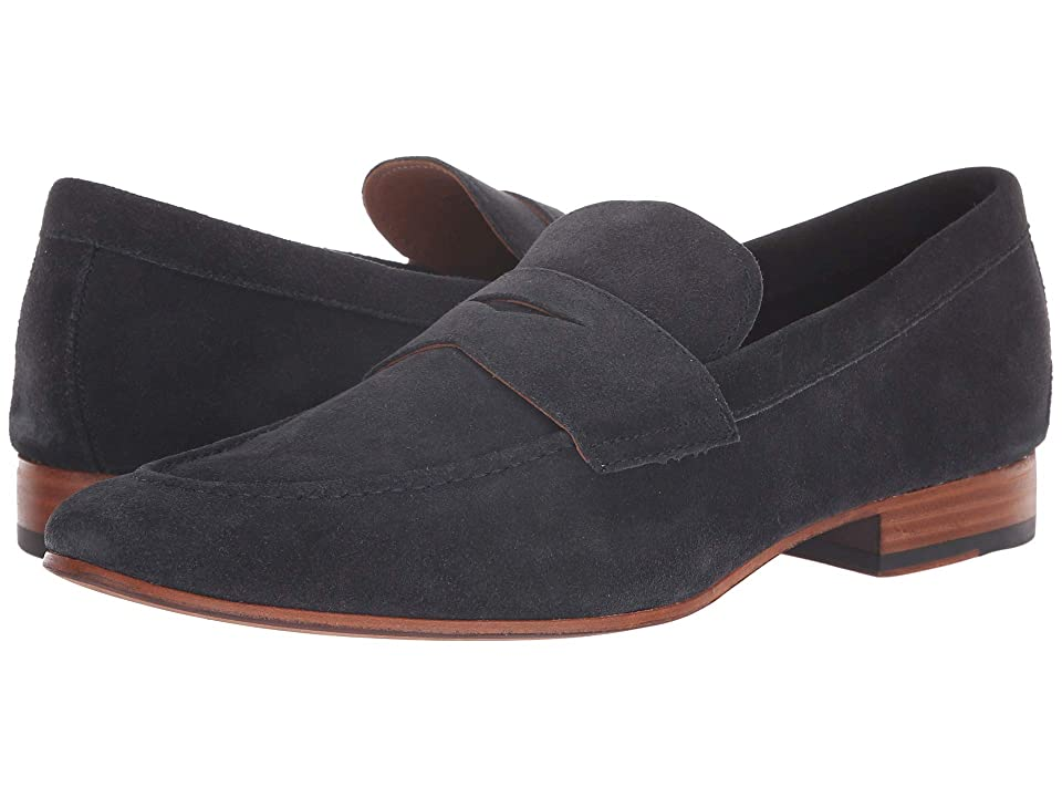 Mens Vintage Style Shoes| Retro Classic Shoes Gordon Rush Wilfred Navy Mens Shoes $225.00 AT vintagedancer.com