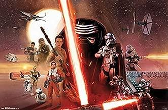 Buyartforless Star Wars The Force Awakens Group 34x22 Movie Art Print Poster