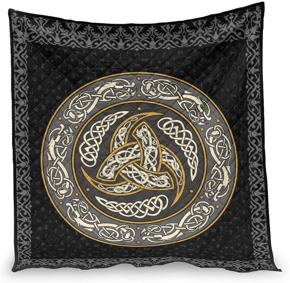 Basic Patterned Viking Quilt Award Blanket Regular White - 51x Bed Nippon regular agency for