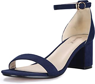 Women's IN2 Cookie-LO Low Heel Ankle Strap Dress Pump Sandal
