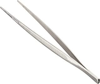 Mercer Culinary 18-8 Stainless Steel Precision Tongs Straight 9-3/8 Inch Straight Tip Silver M35130