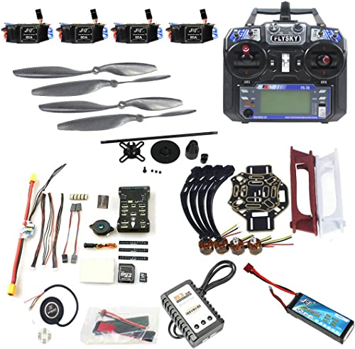 venta al por mayor barato Qwinout DIY Drone Quadcopter 4-axle Aircraft Kit  450 450 450 Frame + PXI PX4 Flight Control + 920KV Motor + GPS + FS-i6 Transmitter + Battery  barato