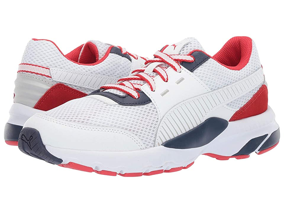 PUMA Future Runner Premium (Puma White/Peacoat/High Risk Red) Men