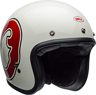 Bell Custom 500 Special Edition Open-Face Motorcycle Helmet (RSD WHO Gloss White/Red, Medium)
