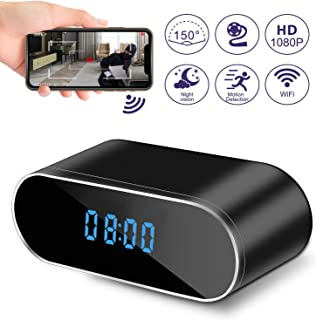 Spy Camera Hidden Camera in Clock WiFi Hidden Cameras 1080P Video Recorder Wireless IP Camera for Indoor Home Security Monitoring Nanny Cam 140 Angle Night Vision Motion Detection