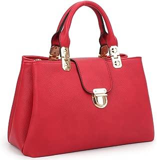 Women Satchel Handbags Top Handle Purse Medium Tote Bag Vegan Leather Shoulder Bag
