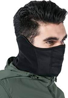 Tactical Neck Gaiter - Half Balaclava Style for Skiing, Snowboarding, Motorcycling & Cold Weather Winter Sports. Protect Your Nose, Mouth, Ears and Neck from the Elements
