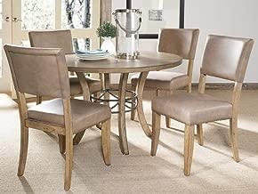 Hillsdale Furniture Charleston Desert Tan Five-Piece Wood Base Dining Set w/Parson Chairs