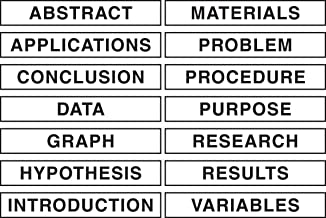 Pacon Self-Adhesive Presentation Science Subtitles, 14 Titles, 1-1/2