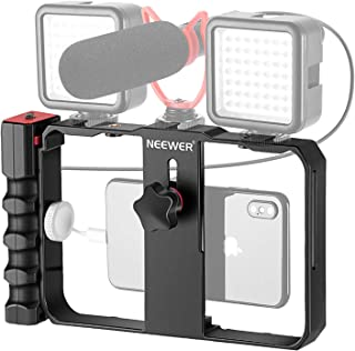 Neewer U Rig Smartphone Video Rig, Filmmaking Case, Phone Video Stabilizer Grip Tripod Mount for Videomaker Film-Maker Vid...