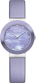 BERING Time 11429-689 Womens Ceramic Collection Watch with Satin Band and Scratch Resistant Sapphire Crystal. Designed in Denmark.