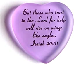 Scripture Heart with Pouch, But Those who Trust in The Lord for Help. (Lilac)