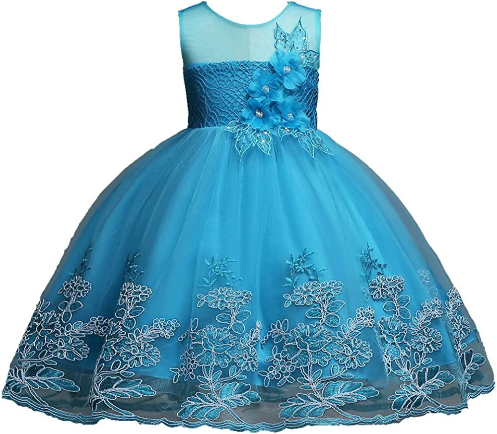 Buy 20 202 Years Girls Dress Sequin Lace Wedding Party Flower Dress ...