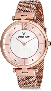 Daniel Klein Womens Quartz Watch, Analog Display and Stainless Steel Strap - DK12178-2