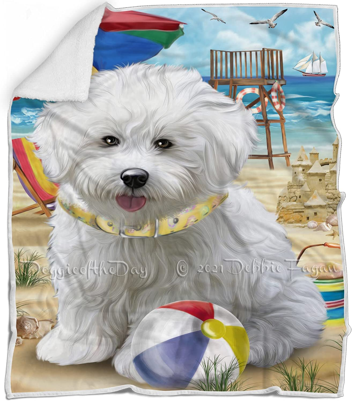 Pet Friendly Beach Bichon Frise Blanket - Sale SALE% OFF Multicolor Dog Sales results No. 1 Fluffy