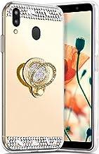Robinsoni Hoesje compatibel met Galaxy M20 Telefoonhoes, flexibel Galaxy M20, Sparkle siliconen hoesje TPU Diamond Edge Bl...