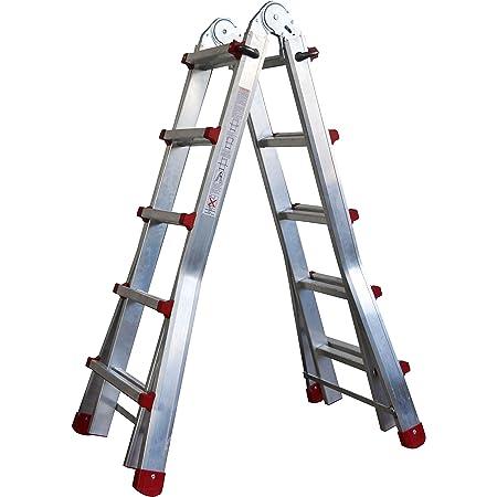 4 x 3 pelda/ños hasta 150 kg Escalera multiusos de aluminio escalera telesc/ópica plegable 3,5 m de longitud total escalera combinada vers/átil