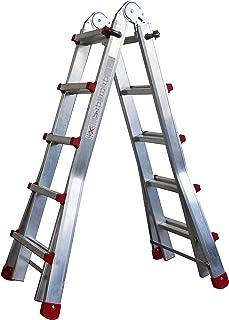 comprar comparacion Homelux 825029 Escalera Telescópica Multiusos, 2 x 8 Peldaños