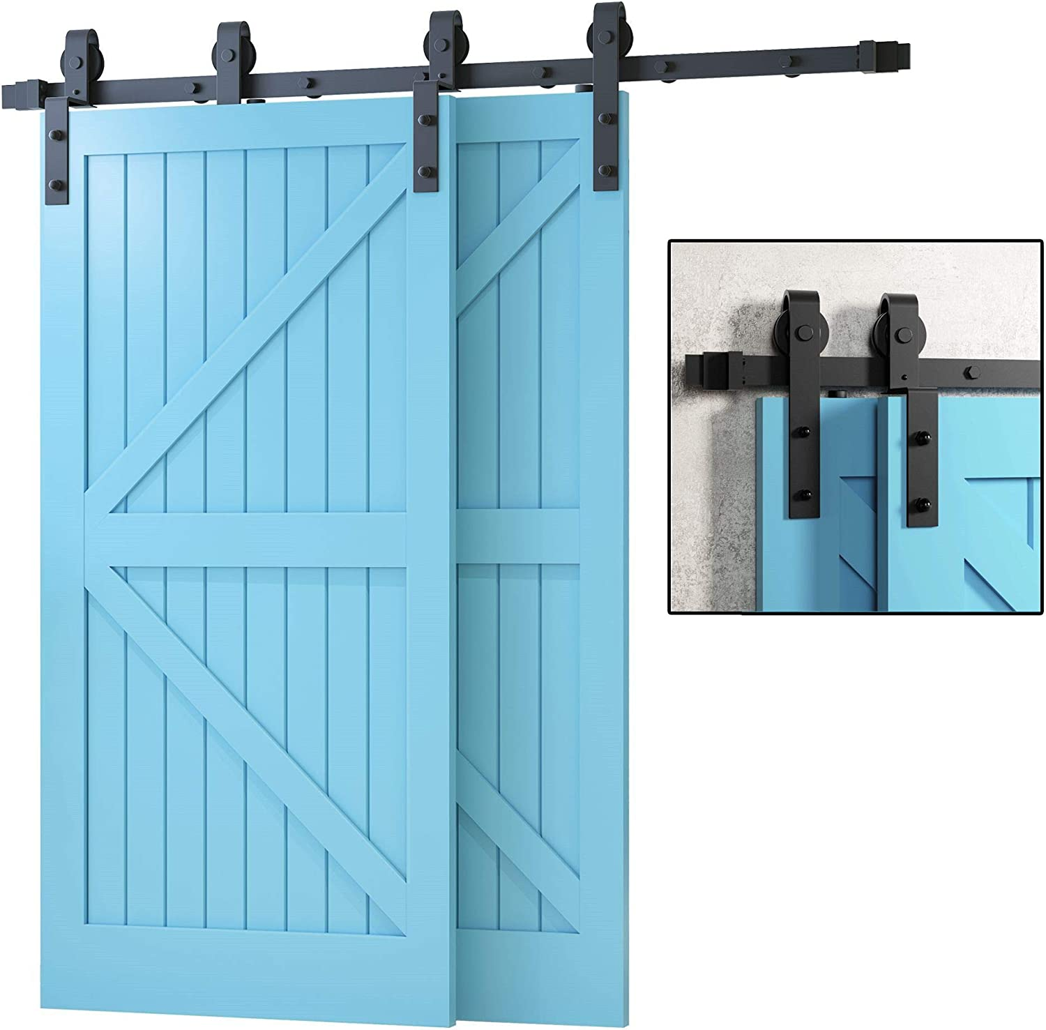VANCLEEF Single Track Bypass Limited time cheap sale Sliding Hardware Year-end gift Barn for Door Kit
