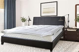 Sleep Well Super King Size, Soft Material Mattress Topper, Fabric, White (200 x 200 + 5cm)