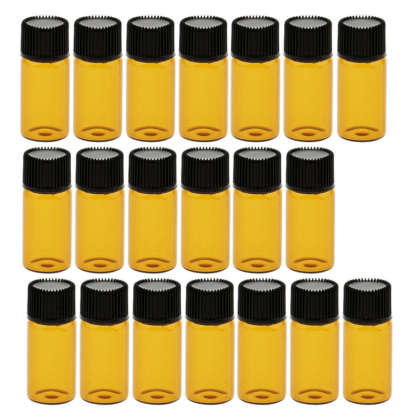 承認する撤回する十一CUTICATE 約20個 ガラスバイアル コスメ 化粧品 詰替え容器 ボトル ポータブルサイズ 旅行小物 4サイズ - 3ml