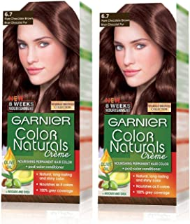 Garnier Color Naturals 6.7 Pure Chocolate Brown Twin Pack159 gm