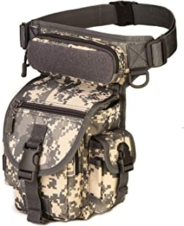 Men Waterproof Nylon Drop Leg Bag Fanny Waist Pack Thigh Belt Hip Bum Military Tactical For Travel Motorcycle Riding,Acu