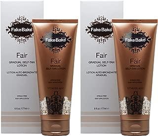 Fake Bake Fair Lotion, 6-Ounce,Set of 2