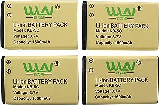 WLN KD-C1 1500mAh Li-ion Battery Compatible for Retevis RT22 Zastone X6 LUITON LT-316 TIDRADIO TD-M8 RADTELRT-10 NKTECH NK-U1 Zeadio ZS-B1 Walkie Talkies 4Pack