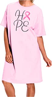 Hope - Breast Cancer Awareness Ribbon Adult Wear Around Night Shirt and Dress