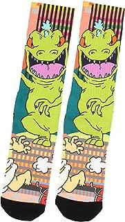 Nickelodeon Rugrats Reptar Dinosaur Character Sublimated Crew Socks 1 Pair