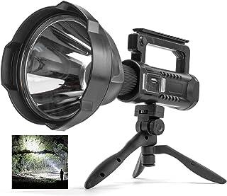 Rechargeable Spotlight Flashlight High Lumens, 90000 Lumen LED Super Bright Searchlight, 4 Modes IPX5 Waterproof Work Ligh...