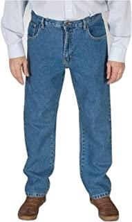 Mens Basic Regular Fit Basic Jeans By Carabu Waist 30 – 60 inch Straight Bottoms Plain Tough Casual Jeans Smart Every day ...