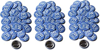 100pcs 1.5 Inch Jw.org Jehovah's Witness Buttons Watchtower with safty pin