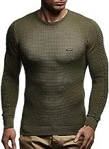 LEIF NELSON Men's Sweater Knitted Pullover Hoodie Basic Crew Neck Sweatshirt Longsleeve Long Sleeve Slim Fit LN1545