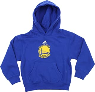 adidas Golden State Warriors NBA Little Boys Toddlers Team Logo Pullover Hoodie, Blue