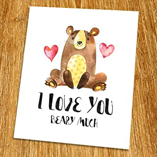 i love you beary much printable