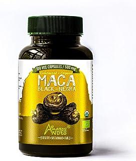 Sponsored Ad - Organic Black maca Root Capsules - Premium gelatinized 100 Vegan Pills - Supplement - Non GMO - Amazon Andes