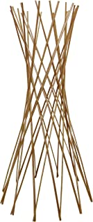 Master Garden Products Carbonized Barkless Willow Funnel Trellis, 48-Inch