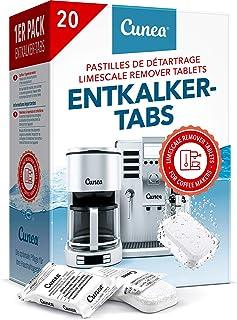 Détartrant Tablettes pour machine à café - 20x Comprimés détartrants compatible avec Tassimo Delonghi Saeco Senseo Durgol ...