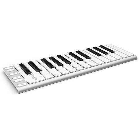 CME - Teclado MIDI con 2 octavas para iPad, Android o PC (25 teclas), color plateado