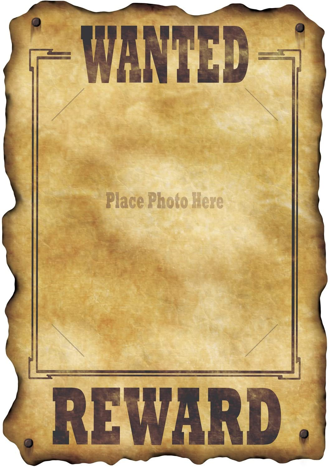 Amazon Com Western Wanted Sign Slotted To Hold 8 X10 Photo Party Accessory 1 Count Toys Games